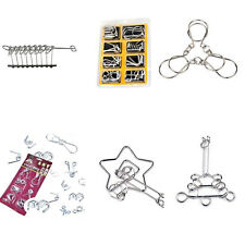 Metal Ring Puzzle Brain Teaser Metal Wire Puzzle Funny Educational Toy 6 Styles