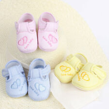 New Toddler Infant Baby Unisex Lovely Soft Sole Skid-proof Shoes 0-12 Months AU