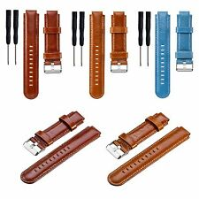 Leather Bracelet Band Strap For Garmin Forerunner 220 230 235 620 630 GPS Watch