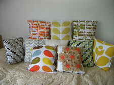 Various Handmade cushion covers in Orla Kiely bedding fabric 16""