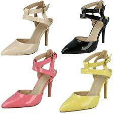 Ladies Anne Michelle Slingback Patent Court Shoes F9760 The Style ~ K