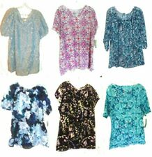 Croft & Barrow Peasant Sleeve, Cap Sleeve & Sleeveless Tops NWT Plus Size XL-2X
