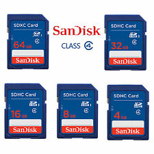 SanDisk 64 32 16 8 GB SD SDHC Memory Flash Card Class 4 For Camera Free Shipping