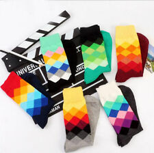 5&10 Pairs Mens Socks Lot Multi Colors Fancy Crew Fashion Design Cotton Socks