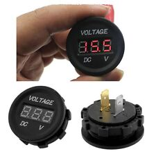 12V-24V Car Motorcycle LED DC Digital Display Voltmeter Waterproof Meter OP