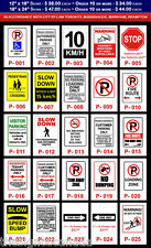 Parking Signs - Fire Route, Visitor, Handicap, Customer, Reserved