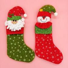 Novelty Christmas Stocking Sock Xmas Hanging Gift Bag Decoration Santa Claus