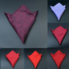 NEW Mens Silk Satin Pocket Square Hankie Handkerchief Various Colours Free HS