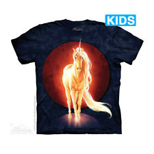 Last Unicorn Kids T-Shirt by The Mountain. Fantasy Moon Horse Equine Youth NEW