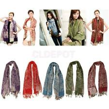 NEW Womens Winter PASHMINA Classic Floral Cashmere Wool SHAWL Scarf Stole WRAP