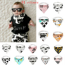 Baby Kids Cotton Bandana Bibs Feeding Saliva Towel Dribble Triangle Lunch Bib