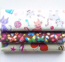 New Cat Fat Quarter Bundle Craft Fabric Quilting Patchwork Sewing Hobby UK