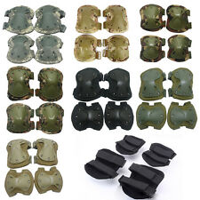 4 sets Protective Tactical Military Paintball Skate Cycle Elbow Knee Pad Airsoft