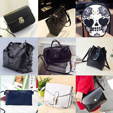 Women Handbag Shoulder Bags Tote Purse PU Leather Lady Messenger Hobo Bag sil
