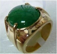 Men's jewelry REAL green jade ring size:8-11