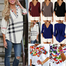 Fashion Womens Long Sleeve Shirt Ladies Casual Blouse Loose Top T Shirt New Gift
