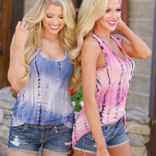 Summer Trendy Women Lady Sexy Changed Color T-Shirt New Sleeveless Tops LM