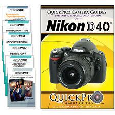 Nikon D40 Quickpro Camera Training DVD Instructional SLR Video Guide NEW