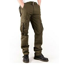 Mens Combat Military Army Green Mutil Pocket Hip pop Cargo Pants Casual Trousers