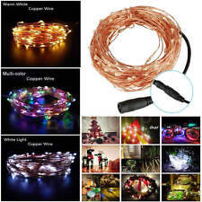 50-400LEDs DC Copper Tube Wire Fairy String Xmas Wedding Indoor Outdoor Lights