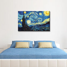 Impressionist Wall Art Decals Van Gogh Starry Night Oil Painting on Canvas