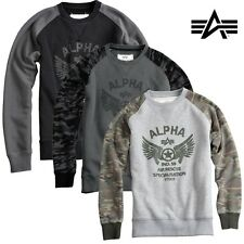 Alpha Industries Men'S Sweater Rescue Men MA1 S M L XL XXL 3XL NEW