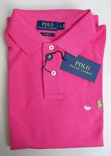NWT Polo Ralph Lauren Men Mesh Polo Shirt Size L XL XXL -CUSTOM FIT- Ultra Pink