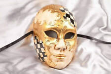 Full Face Masquerade Masks with Diamond Pattern - Volto Scacchi