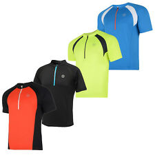 Dare 2B Mens Cycling Half Zip Short Sleeve Top - New Breathable Light Jersey