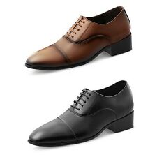 New MA07 Formal 6cm Taller Mens Lace Up Elevator Dress Shoes Oxfords Straigt Tip