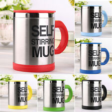 Stainless Self Stirring Mug Auto Mixing Tea Coffee Cup Office Gift YD004  #dkl
