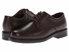 NEW MENS ROCKPORT MARGIN OXFORD DRESS SHOES Chocolate Dark Brown Leather NIB