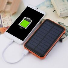 Large Capacity Waterproof Portable Solar Power Bank Dual USB Solar Charger lot L