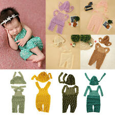 Newborn Infant Girls Boys Crochet Knit Costume Photo Photography Prop Hat Outfit