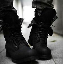 Mens Retro Combat boots Winter England style fashionable short shoes