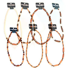 Boy's Men's Fashion Party Whirlybird Bead Beaded Surfer Necklace Wooden Wood