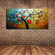 Modern Large Canvas Art Wall Decals Landscape Money Tree Oil Painting on Canvas