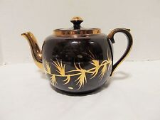 Vintage Gibsons England Teapot Brown Gold Trim LQQK!