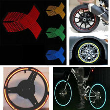 Multi-Color 16Pcs Motorcycle Rim Stripe Wheel Reflective Tape Decal Stickers 18""