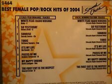 SOUND CHOICE STAR SERIES KARAOKE CDG SCST2464   FEMALE BEST ROCK OF 2004