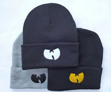 Women Men's Winter Beanie Hats WUTANG Bboy Hip Hop Acrylic Knitted Ski Skull Cap