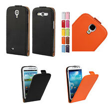 For Samsung Galaxy S3 S4 Premium GENUINE Leather Magnetic Fitted Case Cover Skin