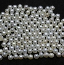 3mm- 12mm Natural Fresh Water White Pearl Half Cut Cabochon Round Loose Gemstone
