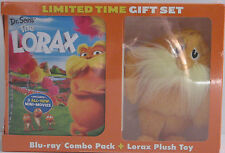 Dr. Seuss' The Lorax Dvd/Blu-ray/Ultraviolet Combo Pack + Lorax Plush New Sealed