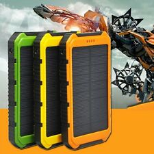 18000mAh Solar Panel 2A 1A Battery Power Bank External Portable Phone Charger MC