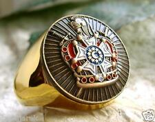 JACQUES DEMOLAY KNIGHTS TEMPLAR RING BAGUE SILVER STEEL GOLD BADGE PIN PATCH D87
