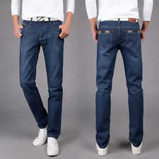 New Men's Denim Pants Skinny Designed Straight Slim Fit Trousers Casual Jeans