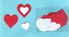 15 SETS SCALLOPED HEART PUNCHIES - SCRAPBOOKING - VARIATIONS*