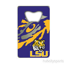 LSU Tigers Credit Card Style Bottle Opener NCAA NEW!! Free Shipping!!