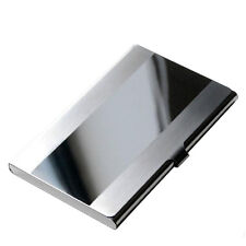 Stainless Steel Pocket Name Credit ID Business Card Holder Box Metal Case LE